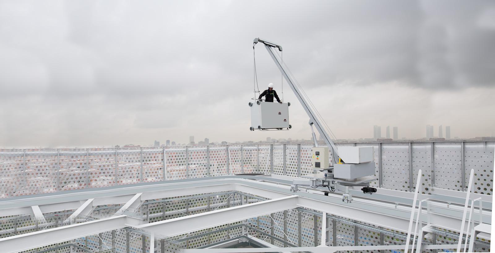 Jeřábové systémy pro údržbu budov