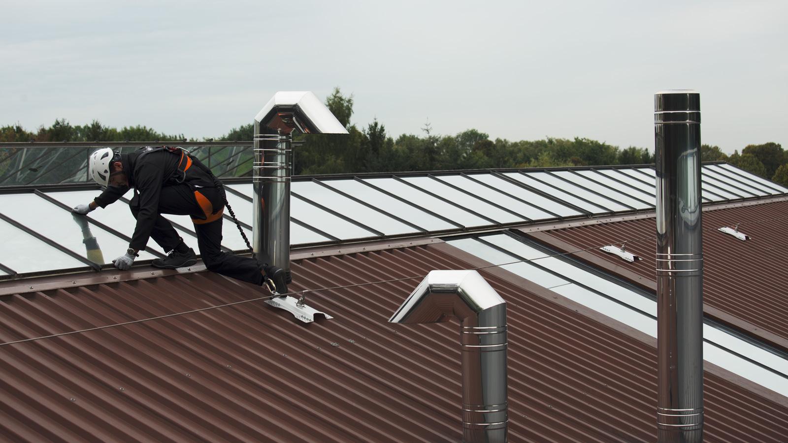 SecuRope kotvicí lano na trapézové střechy